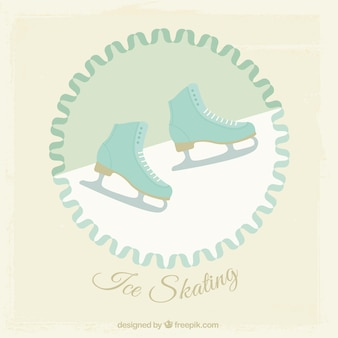 Ice skating illustration