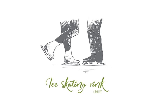 Ice skating rink concept illustration