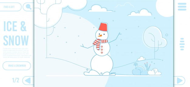 Ice and snow landing page