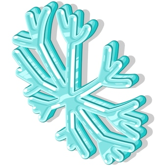 Ice snowflake vector illustration isolated on a white background.