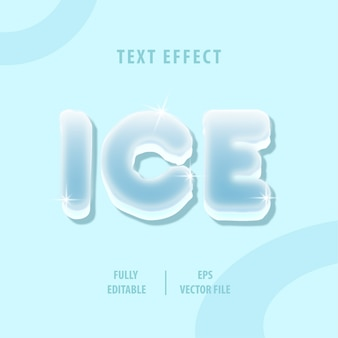 Ice text style effect