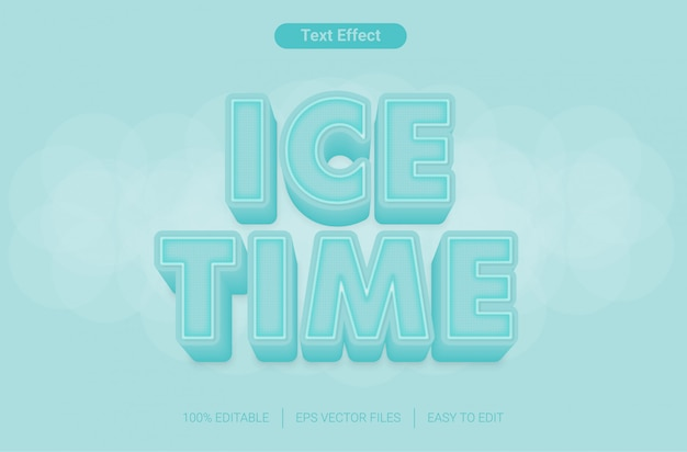 Ice time editable text style effect