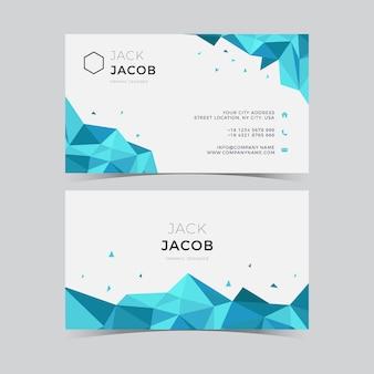 Ice triangle business card
