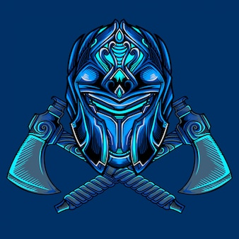 Ice warrior mask vector