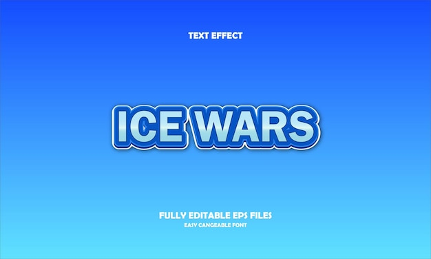 Ice wars text effect