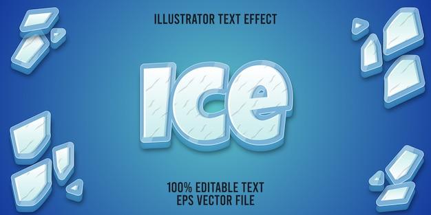 Редактируемый текстовый эффект ice