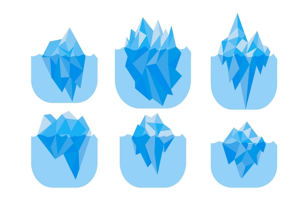 Iceberg collection design Premium Vector