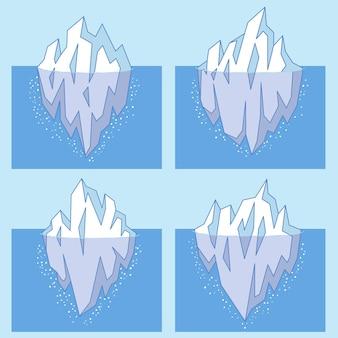 Концепция иллюстрации коллекции айсберг
