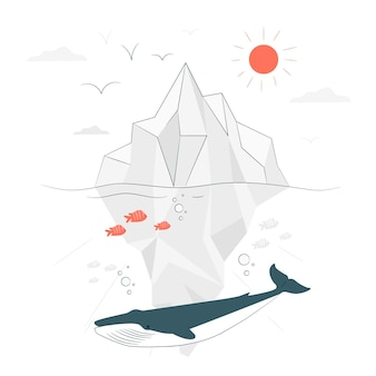 Iceberg concept illustration