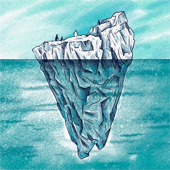Iceberg concept illustration