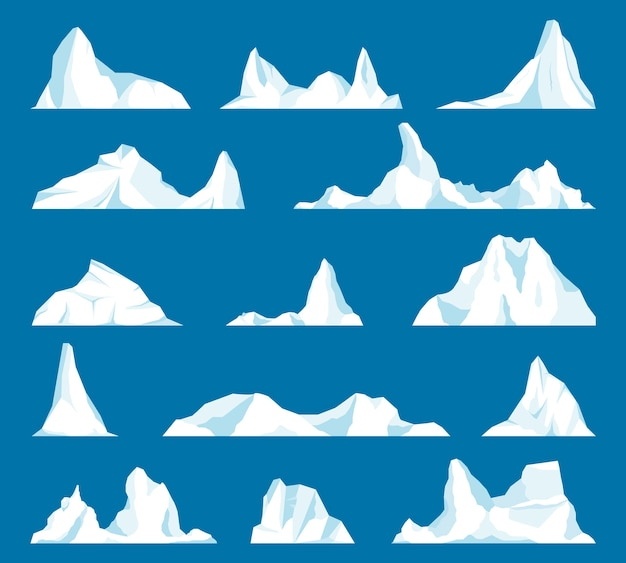 Iceberg or drifting arctic glacier. frozen mountain and icy, frozen liquid and north theme.