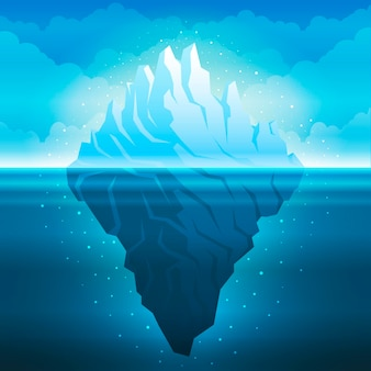 Iceberg design piatto illustrazione