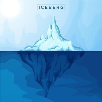 Iceberg illustration concept