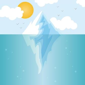 Concetto di illustrazione di iceberg