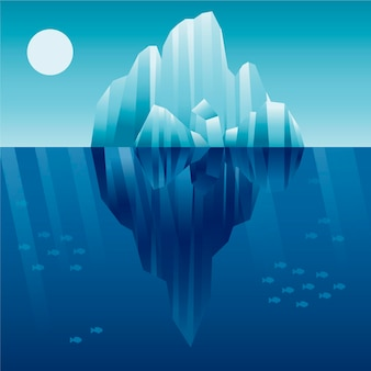 빙산 그림 개념