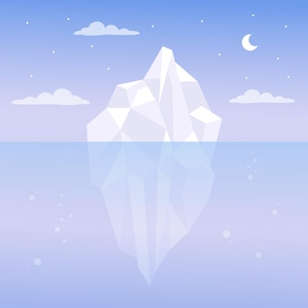 Iceberg illustration concept
