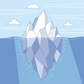 氷山イラストコンセプト