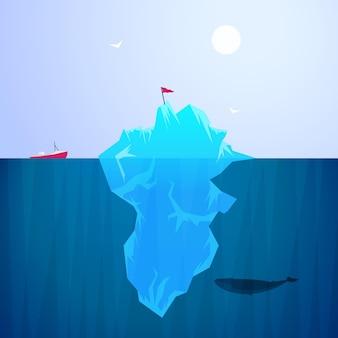 氷山イラストスタイル