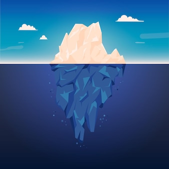 Iceberg illustration theme