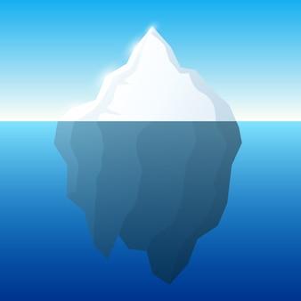 Iceberg illustration on water