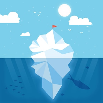 Illustrazione di iceberg
