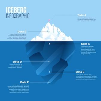 Айсберг инфографики концепция