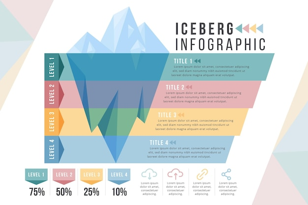Iceberg infographic template
