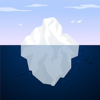 Iceberg landscape in the ocean