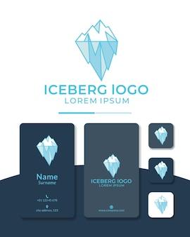 빙산 로고 디자인 기하학적 라인