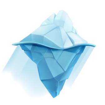氷山、低ポリスタイルのイラスト