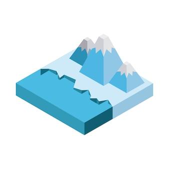 Iceberg mountain icon