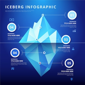 Iceberg poly infographic template