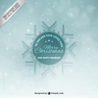 Iced snowflake mery christmas background