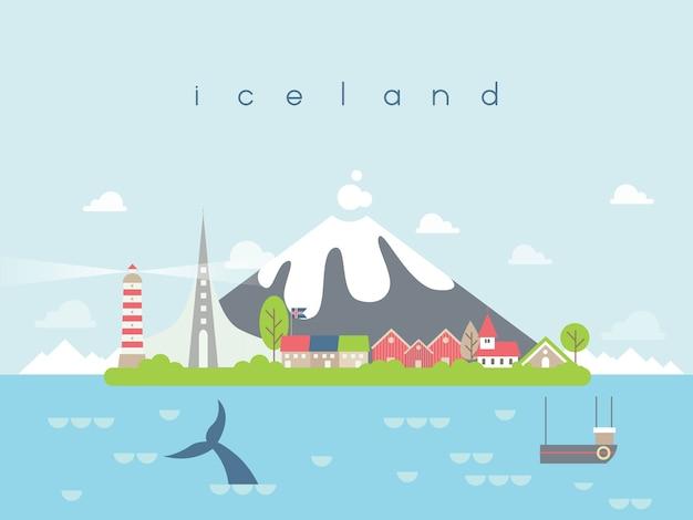 Iceland famous landmarks infographic