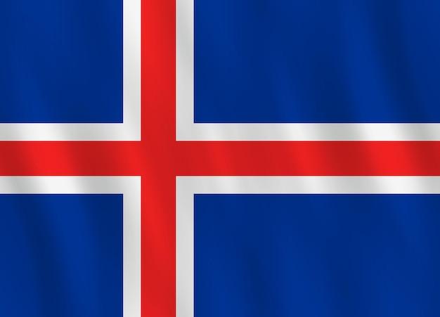 흔들며 효과와 아이슬란드 국기, 공식 비율.