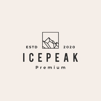 Icepeak mount  vintage logo  icon illustration