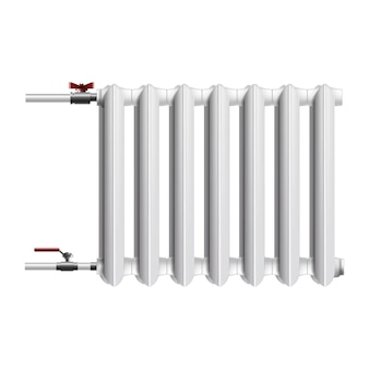 Icon of central heating battery, radiator. isolated on white.