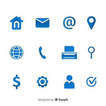 Icon collection for business card