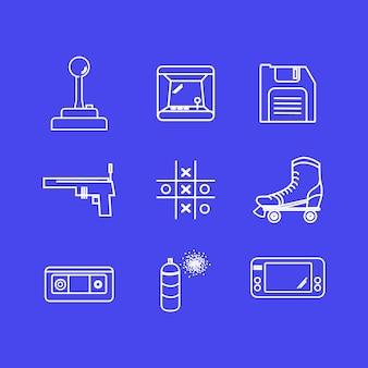 Коллекция иконок для визитки Premium векторы
