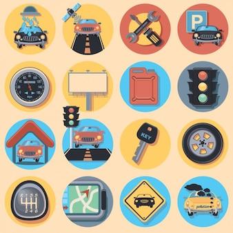 Автомобильный icon collection