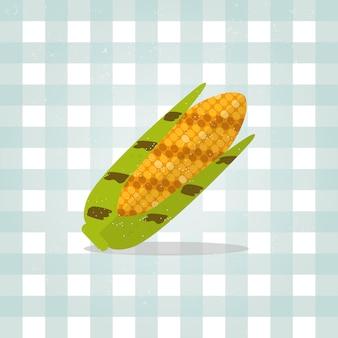 Icon corn illustration in flat style