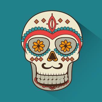 죽은 멕시코 디자인의 아이콘 일