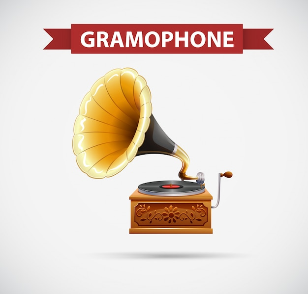 Icon design with gramophone