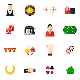 Казино icon flat