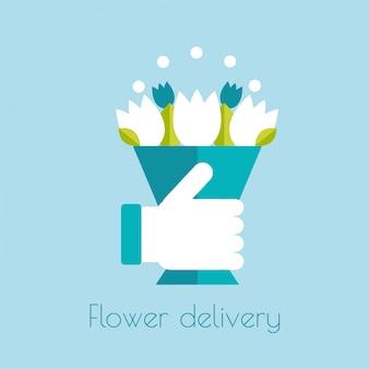 Значок доставка цветов