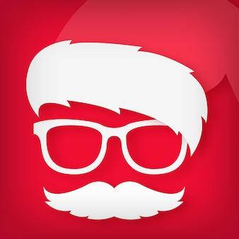Icon of a funny santa claus