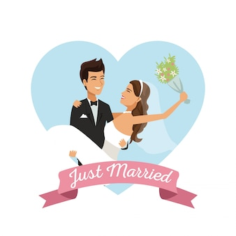 Icon heart white background with vector illustration