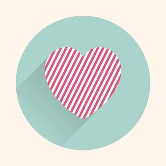 アイコンハートイラスト。休日テンプレートのバレンタインデーカード。クリエイティブで贅沢なスタイル