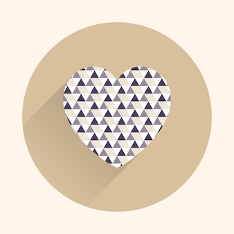 Icon hearts illustration. valentines day card for holiday template. creative and luxury style