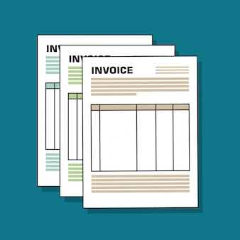 Icon invoice design